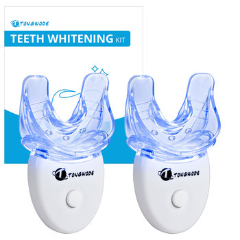 2 Dental Equipment Teeth Whitening Kit With LED Light Teeth Tray Dental Materials Teeth Whitening Bleaching White Black 1pcs dental equipment dental lab dental instrument dentistry teeth whitening light guide for woodpecker curing light