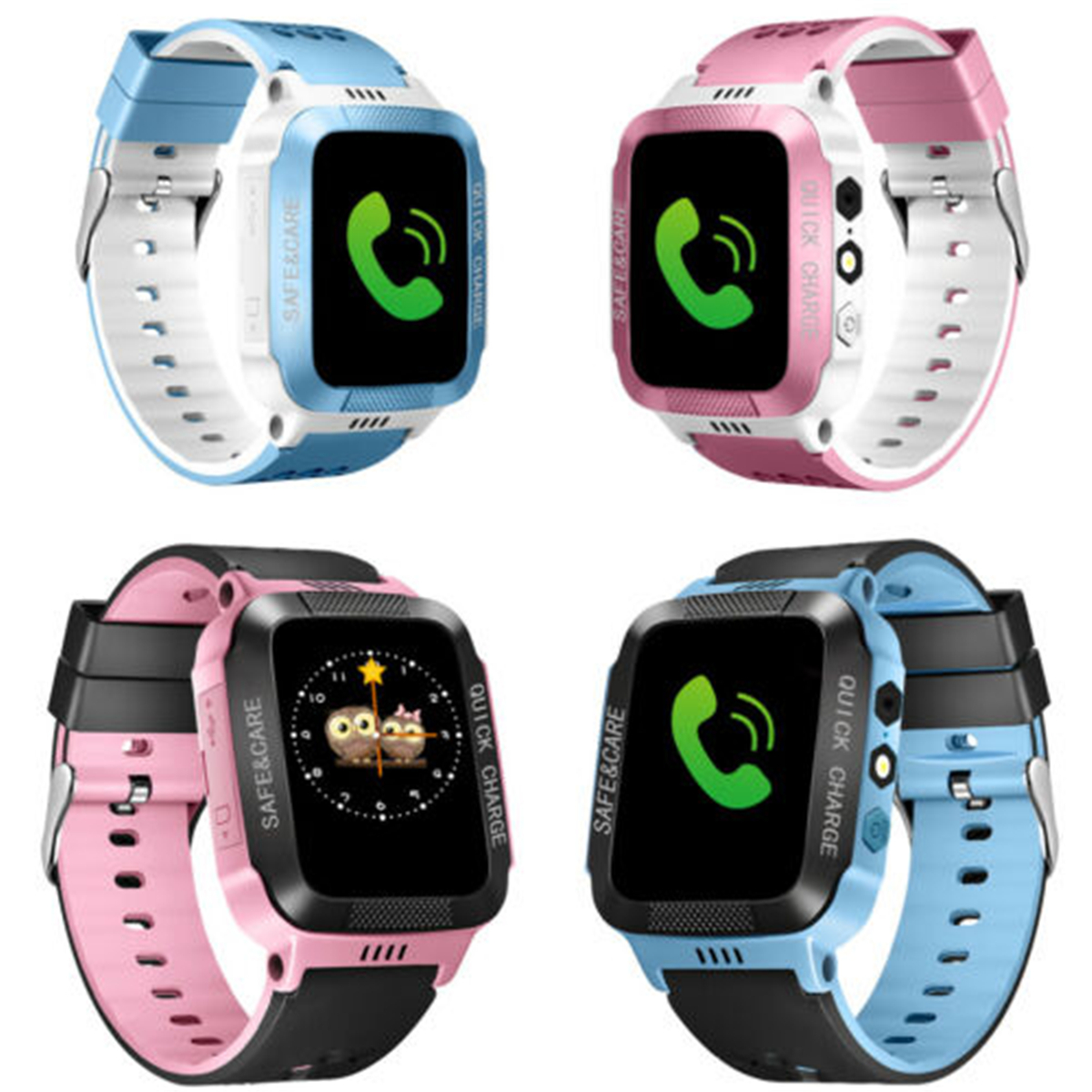 Multifunction Children Kids Digital Smart Watch Touch Screen LBS Position Tracker Voice Monitoring Phone For Kids Safety Protect in Children 39 s Watches from Watches