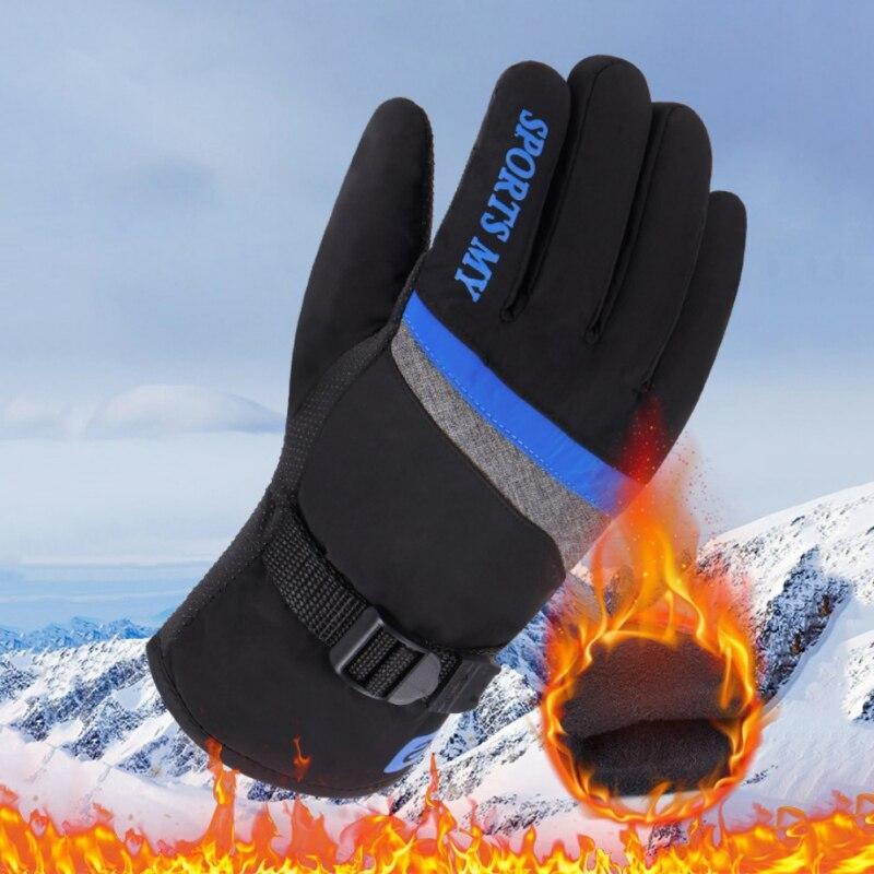 Winter Ski Gloves Fleece Snowboard Snowmobile Motorcycle Riding Winter Windproof Waterproof Unisex Snow Gloves