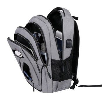 Big Capacity Men Backpack Laptop 15.6 Oxford Gray  2
