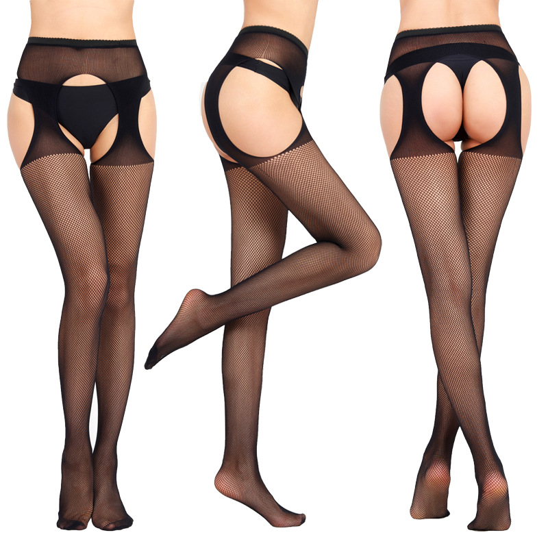2019 Fashion Woman Sexy Lingerie Stockings Garter Belt Fishnet Tights Transparent Pantyhose Thigh High  Embroidery Stockings