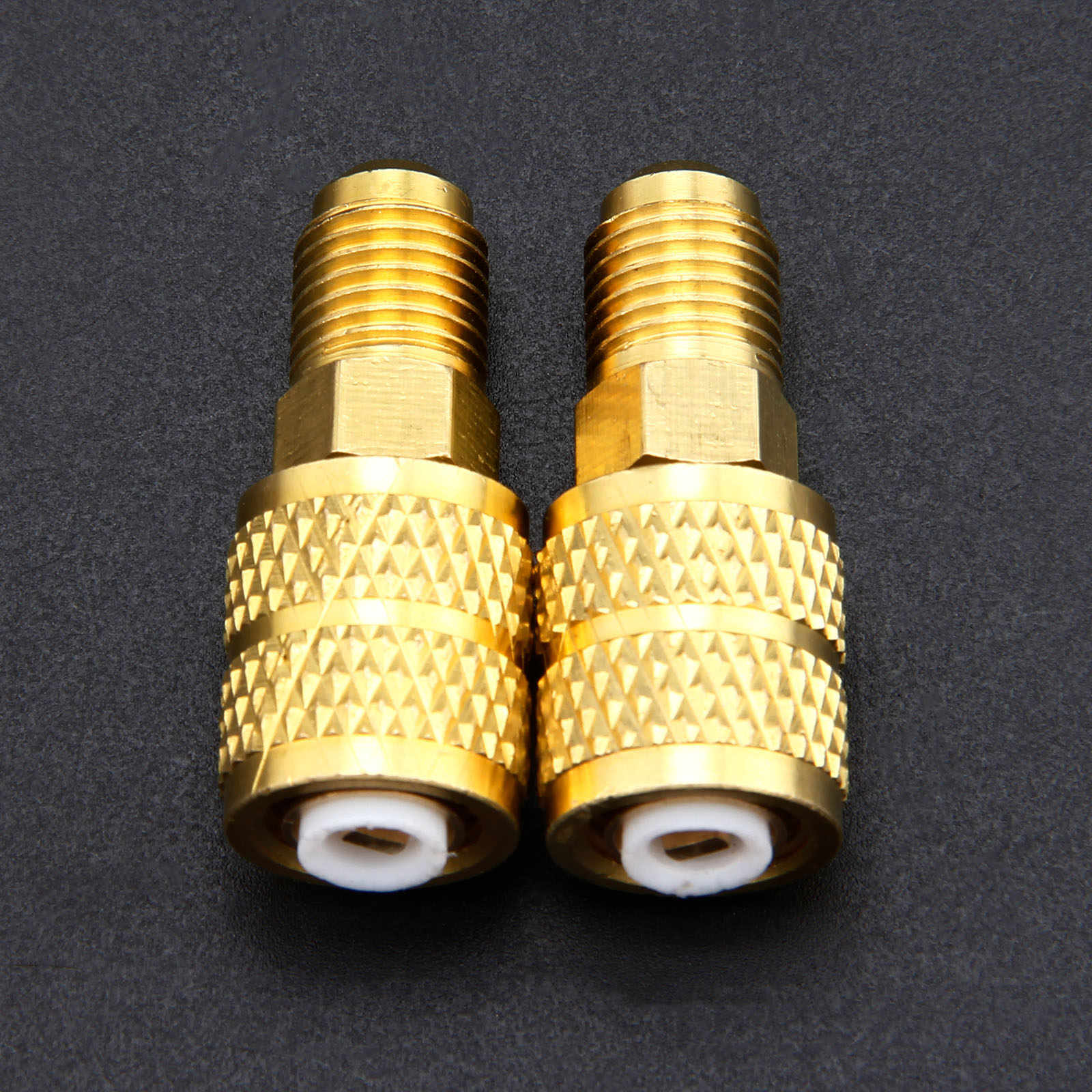 """2 uds R410A adaptador recto 1/4 """"macho a 5/16"""" hembra conector para R410a Mini Split HVAC sistema de aire acondicionado refrigeración"""