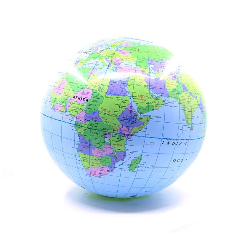 30cm inflable globo de tierra océano mapa bola geografía aprendizaje educativos playa pelota de juguete para niños hogar Oficina Decoración 1 Uds