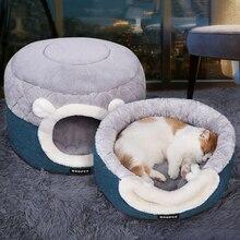 Небольшое Домашнее Животное Гнездо Зимой Теплый Спальный Кровать Собаки Кошка Кровать Дом Любимчика Мягкий Плюш Щенок Питомник Подушка Собака Кровать Любимчика Циновки Поставки