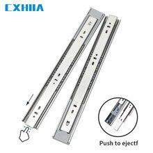 Cxhia 10-20 Polegada gaveta mudo de aço inoxidável trilho deslizante três-seção buffer faixa rebote amortecimento