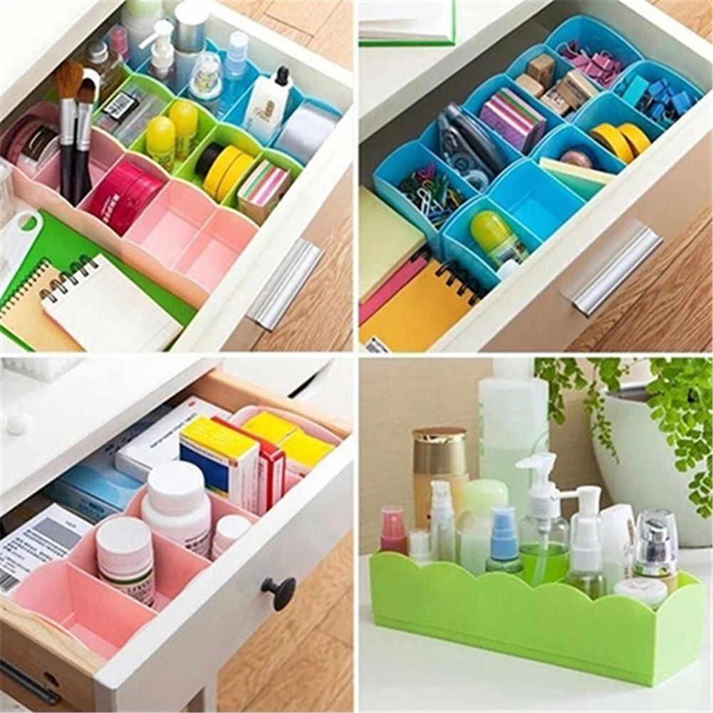 Organizador de cajón de almacenaje de ropa interior con 5 compartimentos, cajones divisores, 서socks Closet para sujetadores, calcetines, ropa, caja, cajas de almacenamiento cajon