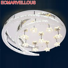 Sufitowa Celling Lighting Industrial Decor Deckenleuchten Crystal Plafondlamp LED Lampara De Techo Plafonnier Ceiling Light