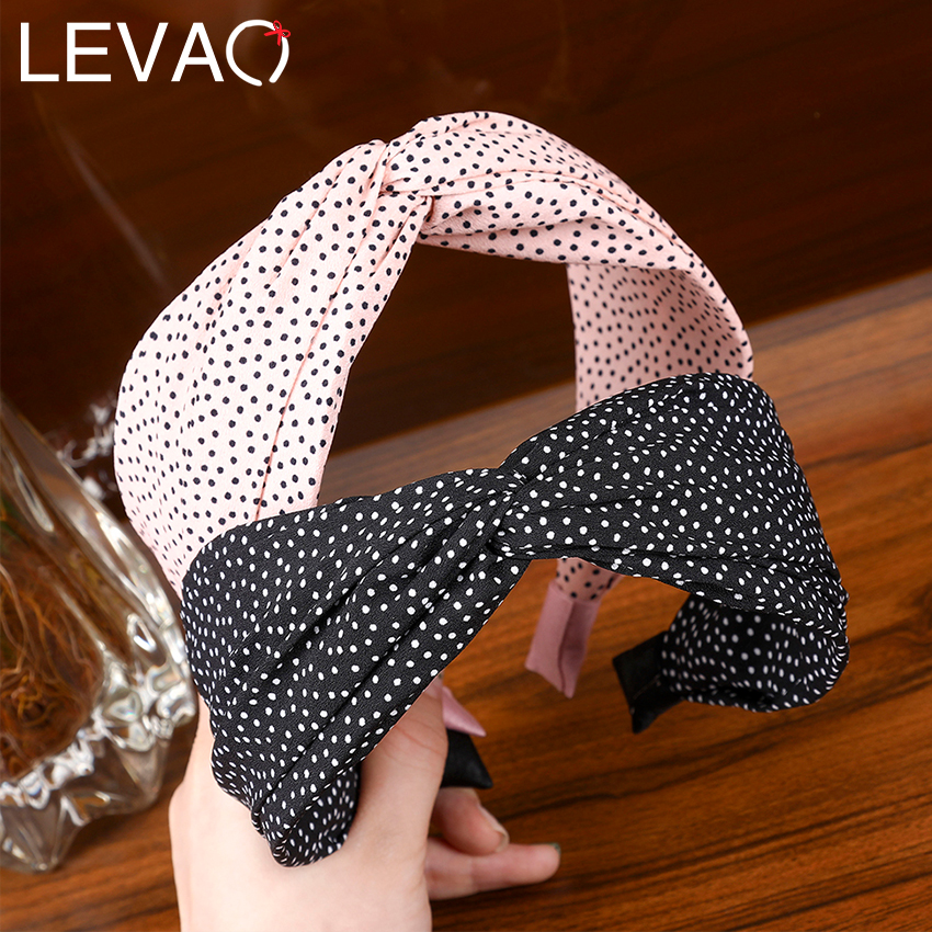 Levao Mori Style Snowflake Cloth Hairbands For Literary Girls Beautiful Solid Cross-Criss Knot Wide-brimmed Headbands For Women