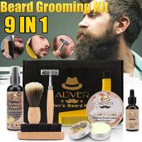 Aliver Beard Clean Set With Essential Shampoo Brush Comb Oil Cream for Men Makes Soft Cleanse Refresh and Nature Grooming kit
