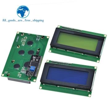 LCD2004 + I2C 2004 20 #215 4 2004A niebieski tło Green screen HD44780 LCD w IIC I2C Adapter interfejsu szeregowego moduł dla Arduino tanie i dobre opinie CN (pochodzenie) lcd 2004 LCD2004 Charakter 16*04