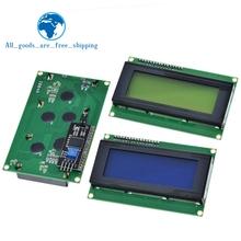 LCD2004 + I2C 2004 20 #215 4 2004A niebieski tło Green screen HD44780 LCD w IIC I2C Adapter interfejsu szeregowego moduł dla Arduino tanie tanio lcd 2004 LCD2004 Charakter 16*04