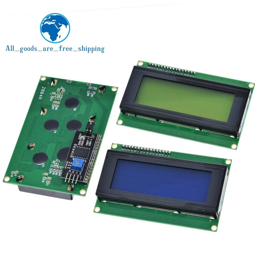 ЖК-дисплей 2004 + I2C 2004 20x4 2004A синий/зеленый экран HD44780 символьный ЖК-дисплей/w IIC/I2C последовательный интерфейс модуль адаптера для Arduino
