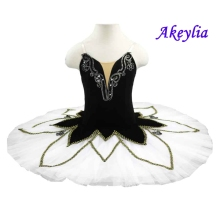 Professional ballet tutu women white black swan adult costume kids feather pancake
