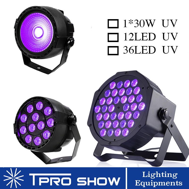 UV Disco Light Ultraviolet LED Strobe Dimming Mini Stage Lights Purple Lamp Projector DMX Blacklight for Small Party Pub DJ ClubStage Lighting Effect   -