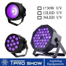 UV Disco Light Ultraviolet LED Strobe Dimming Mini Stageไฟโคมไฟสีม่วงProjector DMX Blacklightขนาดเล็กParty Pub DJคลับ