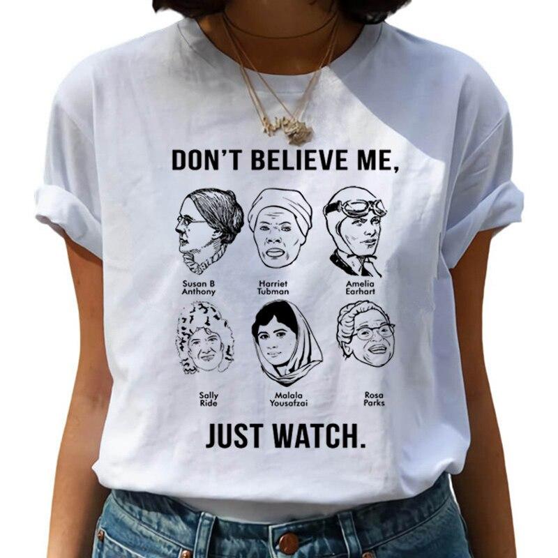 Feminist Harajuku 90s Graphic T Shirt Women Feminism Fight Like A Girl Cartoon T-shirt Girl Power Tshirt Ullzang Top Tees Female