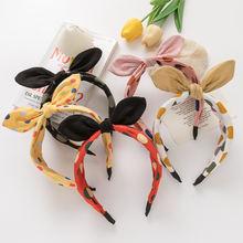 Милая женская повязка на голову с кроликом для девочек; модная