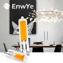 EnwYe 2 Вт 3 Вт Светодиодный светильник, сменный прожектор, хрустальная люстра, теплый белый COB G4 G9 лампочка, переменный ток 220 в 240 В
