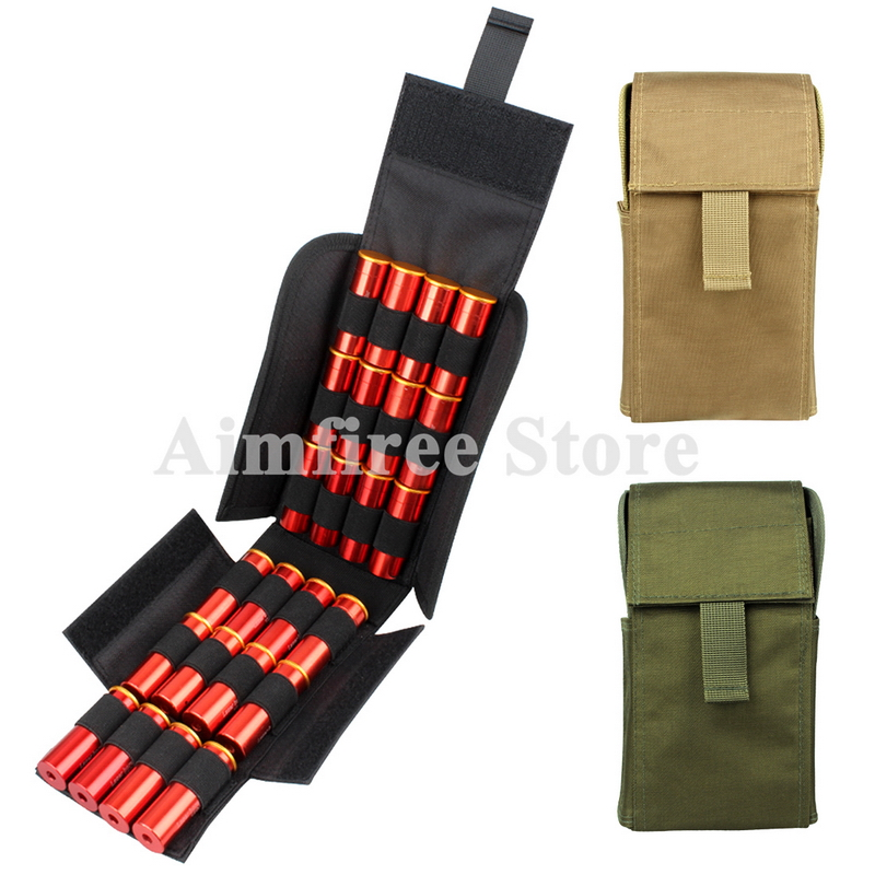 Tactical 12 Gauge Molle Pouch Ammo Belt Bag Shotgun 12G Shell Reload Cartriage Holder Nylon Pouch image