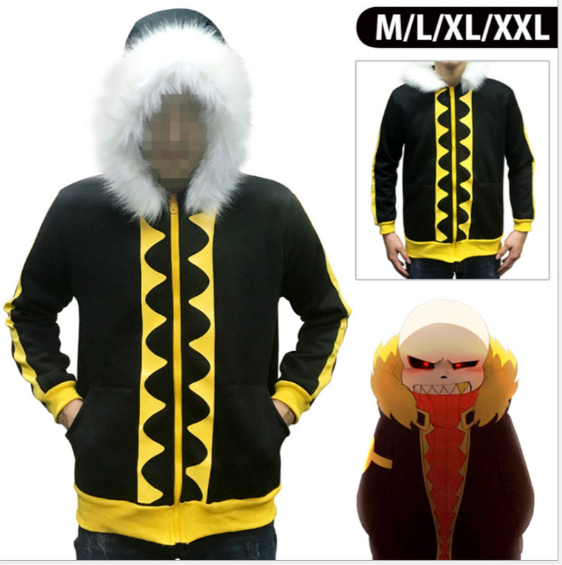 Undertale Sans Hoodie Hooded Jacket Winter Coat Tops Cosplay Costume Gift