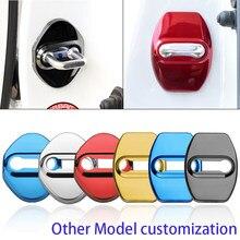 4 pçs modelos personalizados capa proteger capa fivela fechadura da porta do carro trava parar anti ferrugem carro para ford