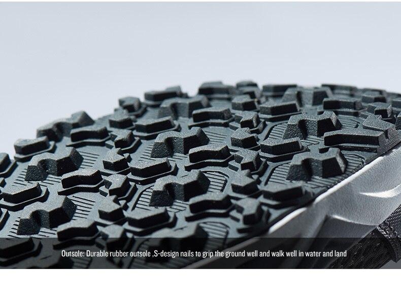 pu palmilha anti-deslizamento sapatos de água caminhadas