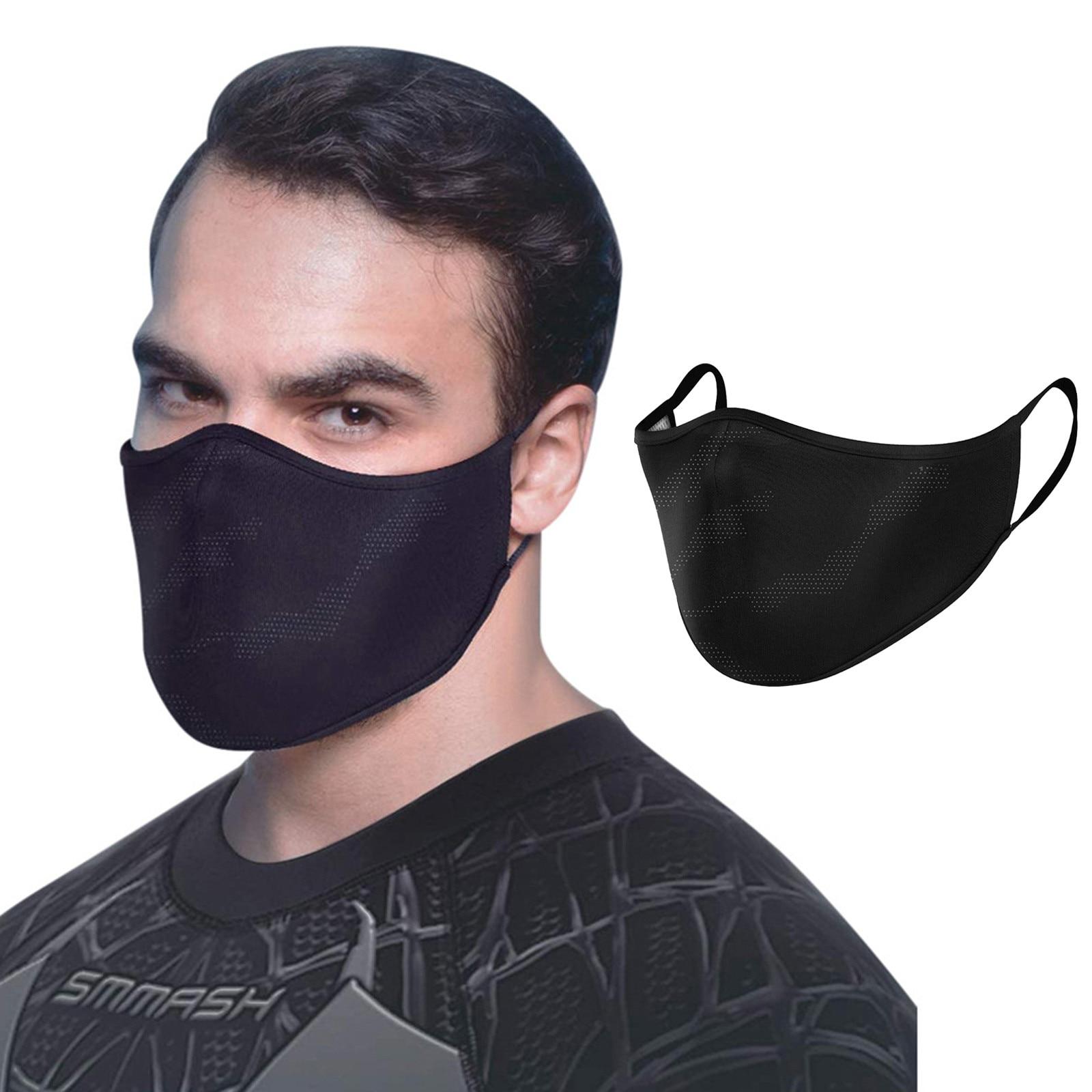 Маска Защитная многоразовая моющаяся для мужчин и взрослых, тканевый колпачок на лицо, Черная