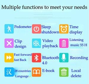 Image 4 - New Arrival Original RUIZU X50 Sport Bluetooth MP3 Player 8gb Clip Mini with Screen Support FM,Recording,E Book,Clock,Pedometer