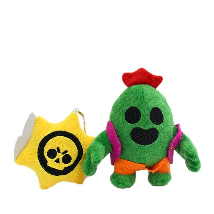 13cm Plush Doll Cactus Car Keychain Game Around Doll Pendant Cute High Quality Soft Doll Festive Christmas Halloween Gift Kid