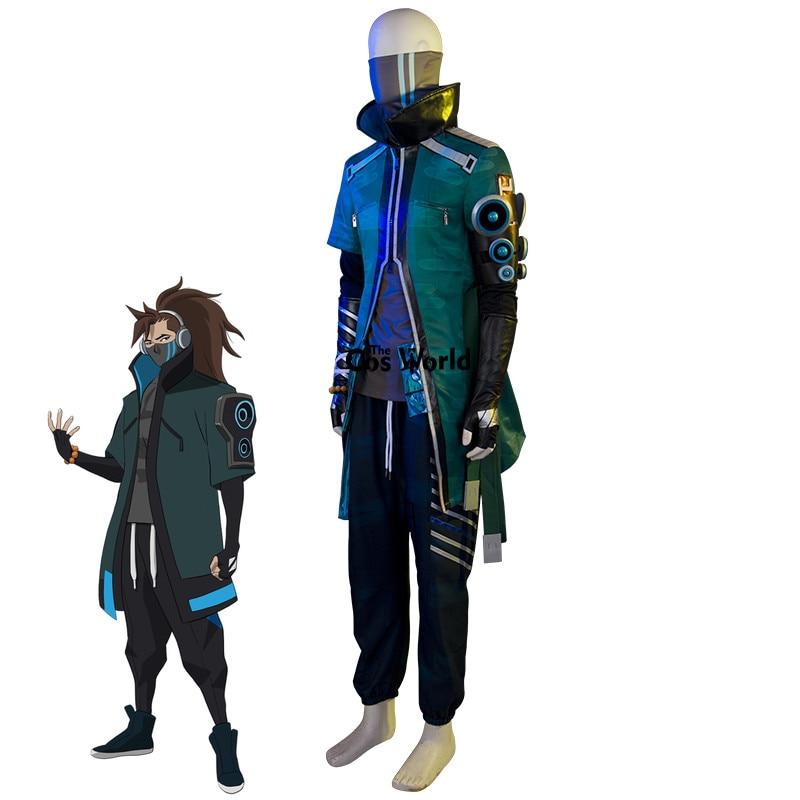 LOL True Damage Yasuo Skin Coat Jacket Pants Uniform Outfit Games Cosplay Costumes