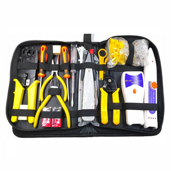 23Pcs LAN Cable Tester Wire Cutter Screwdriver Pliers Crimping Maintenance Network Repair Tool Kit Drop Shipping crimping tool kit ls k03c with cable cutter