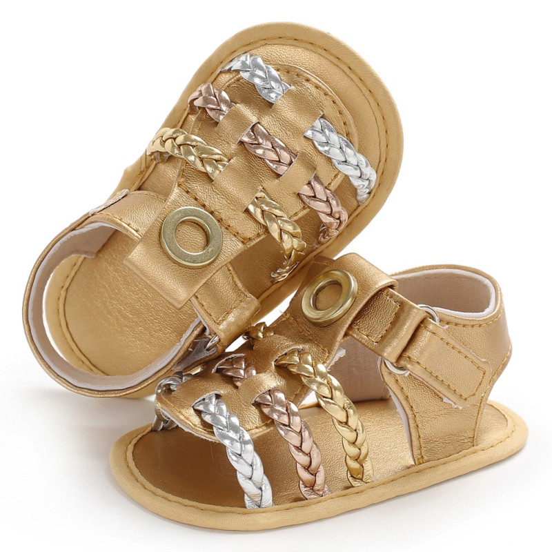 Fashion Baby Girls Shoes Pu Leather Summer First Walker Kids Footwear Newborn Infant Toddler Soft Sole Antislip Prewalkers