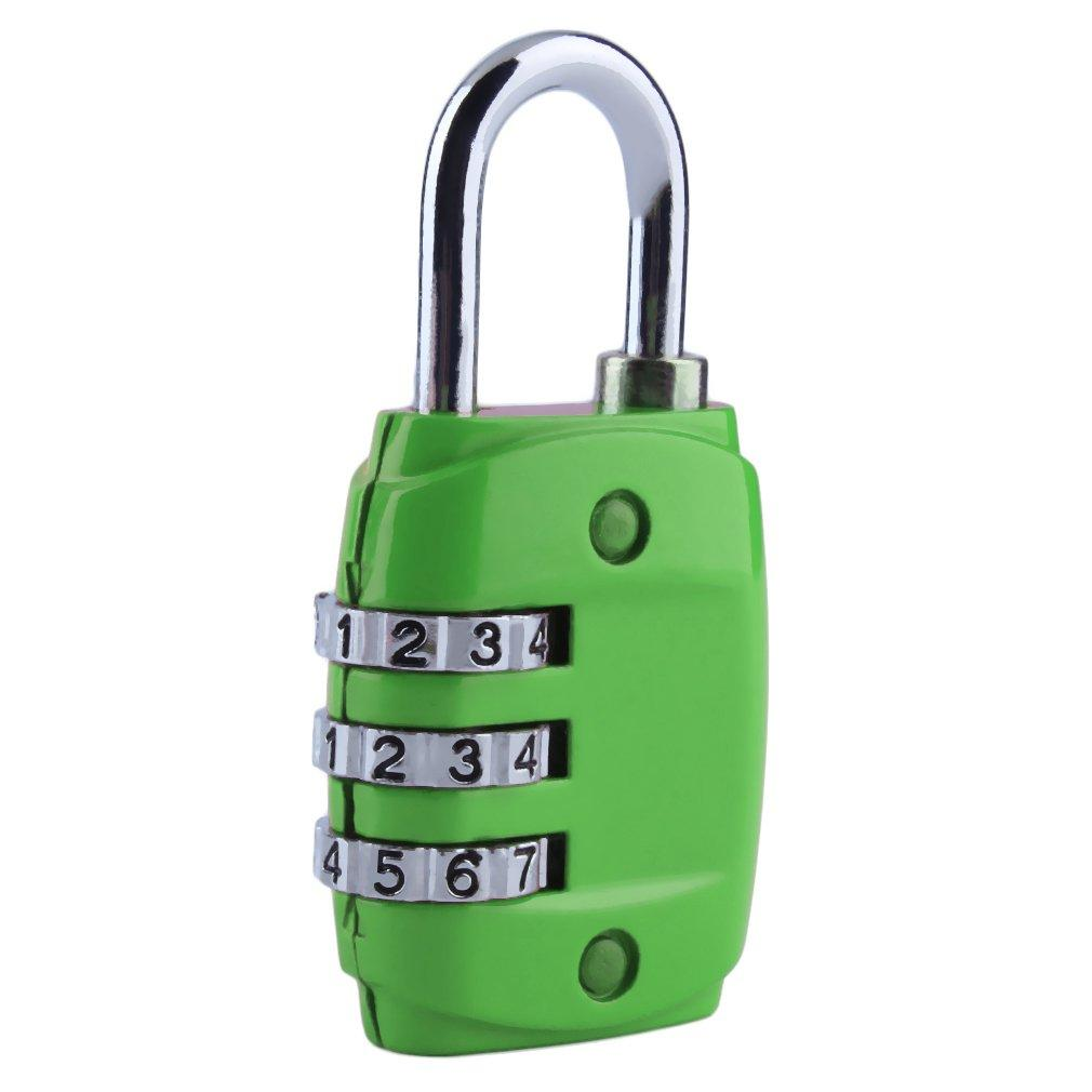 Zinc Alloy Security 3 Combination Travel Suitcase Luggage Code Lock Padlock AW