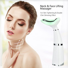 3 Modes LED Photon Therapy Neck Face Lifting Beauty Massager Home Anti Wrinkle Skin Tightening Slimmer Relax Neck Shoulders Tool