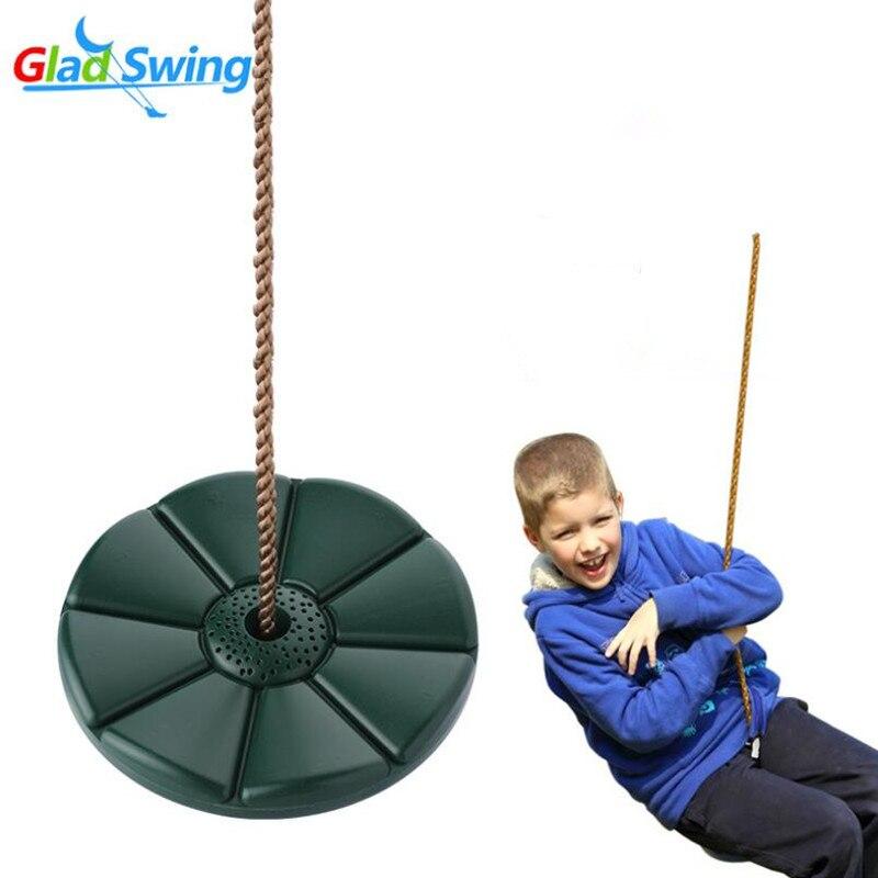 Children Swing Disc Toy Seat Kids Swing Round Rope Swings Outdoor Playground Hanging Garden Play Entertainment Activit