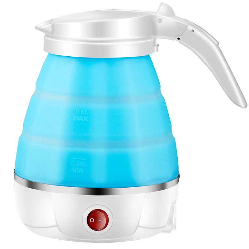 Mini Portable Silicone Folding Electric Water Kettle Auto Power Off Stainless Steel Travel Electric Kettle 500Ml Sports Bottles Sports & Entertainment - title=
