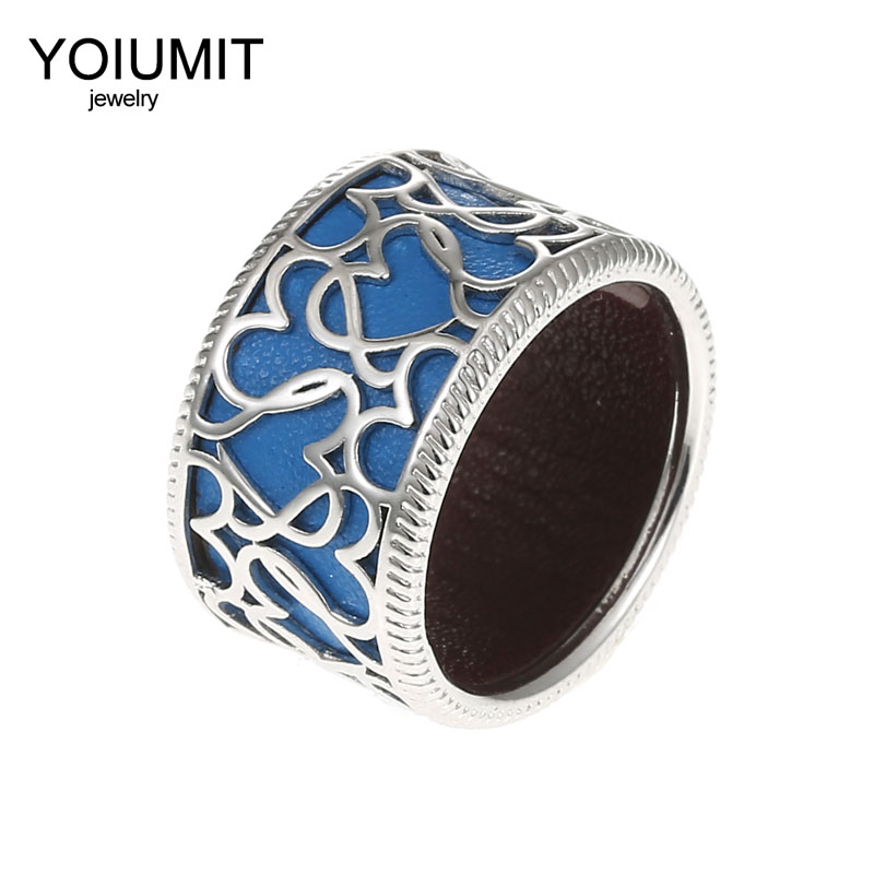 Yoiumit Fashion Giraffe rings Hollowing Rings For Woman Jewelry Cremo Closed Sided Interchangebale Leather Bijoux Bague