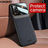 KONSMART Luxury Leather Case For Samsung Galaxy A51 Case For Samsung A71 Bumper Shockproof Mirror Cover For Samsung A51 A71