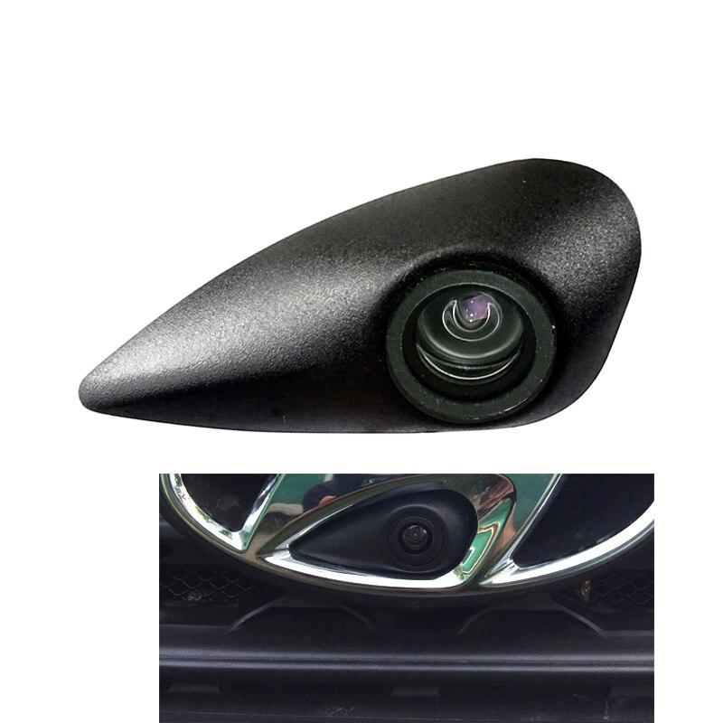 100% IP68 vehículo marca de la Cámara 520 TVL HD color para Hyundai logo frontal Cámara malversada para la cámara frontal de tufson 2019