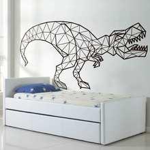 Dinossauro decalques de parede geométrico decort-rex removível adesivos de parede crianças decoração do quarto arte da parede presente para crianças