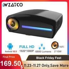 WZATCO C2 1920*1080P Full HD da 200 pollici AC3 4D keystone HA CONDOTTO il Proiettore android 10.0 Wifi Portatile 4K Home theater Beamer Proyector