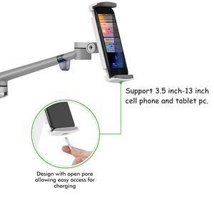 Image 5 - עמדת רצפת לוח, גובה מתכוונן אלומיניום מחזיק תמיכה 3.5 ~ 6 טלפון 7 ~ 13 Tablet עבור iPhone iPad אוויר מיני Stand Pro