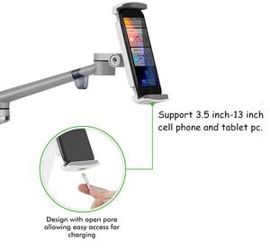 Image 5 - Tablet Floor Stand, Height Adjustable Aluminum Holder Support 3.5~6 Phone and 7~13 Tablet for iPhone iPad Air Mini Pro Stand