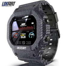 LOKMAT المحيط جهاز تعقب للياقة البدنية التحكم عن بعد الذكية معصمه الرجال IP68 مقاوم للماء ساعة ذكية لنظام أندرويد IOS reloj