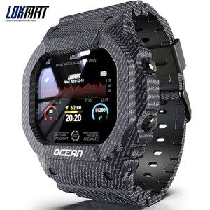 Image 1 - LOKMAT المحيط جهاز تعقب للياقة البدنية التحكم عن بعد الذكية معصمه الرجال IP68 مقاوم للماء ساعة ذكية لنظام أندرويد IOS reloj