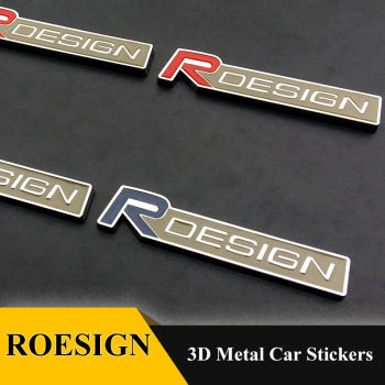Car 3D metal RDESIGN T5 T6 Emblems Badge grill AWD stickers car styling for Volvo XC90 S60 CX60 S80 V40 S40 XC70 V60 XC40 V90 image