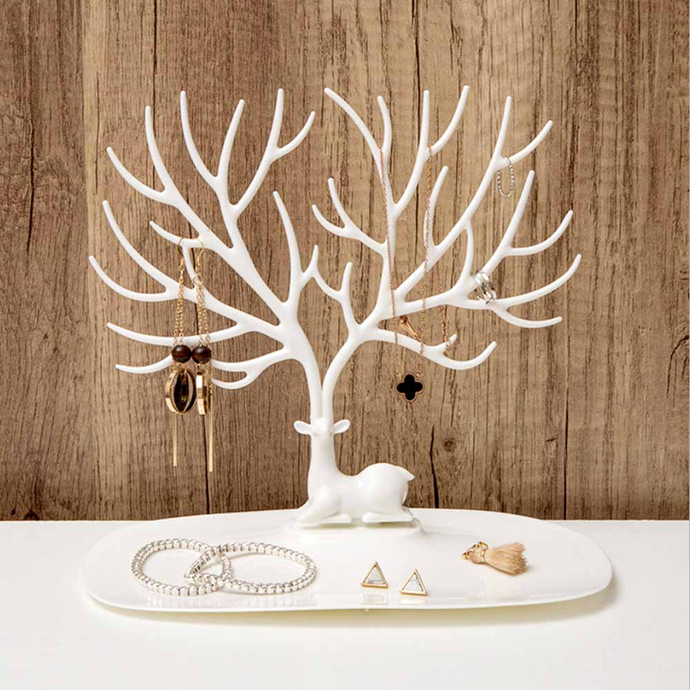 Ring Ornament Lipstick-Rack Jewelry Necklace Makeup-Organizer Cosmetic Display Tree-Stand