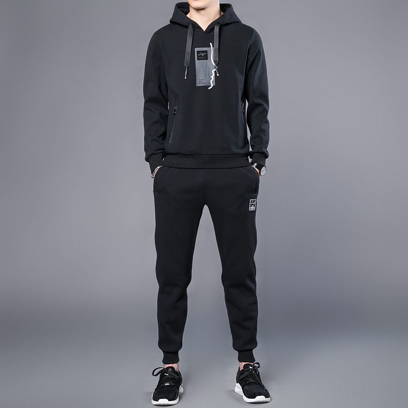 Men's Spring Set New Style Sports Casual Wear Spring And Autumn Hoodie Korean-style Trend Handsome Two-Piece Set