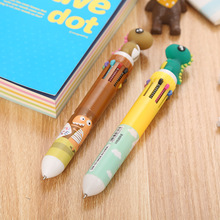 Creative stationery ten color ballpoint pen cartoon student graffiti girl heart multicolor press