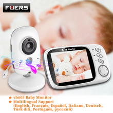 New Color Video Baby Monitor VB603 Baby Nanny Security Camera Support 8 Languages Temperature Monitoring Babyfoon Babysitter